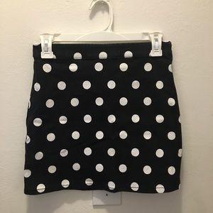 Forever 21 polka dot denim skirt